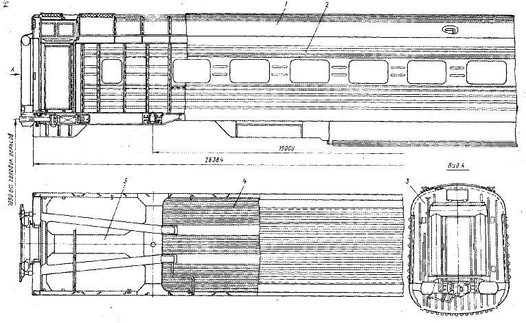 Кузов вагона состоит из рамы 5