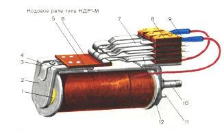Конструктивно реле выполнено с неразветвленной магнитной системой и...